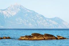 Athos Mountain Stock Photo