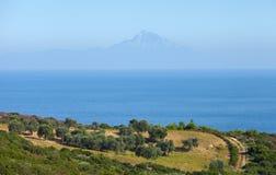 Athos Mountain Fotos de archivo libres de regalías
