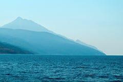 Athos mountain Royalty Free Stock Photo