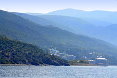 Athos ranges view Greece Royalty Free Stock Photo