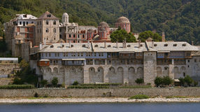 Athos's monastery. At summer Royalty Free Stock Image