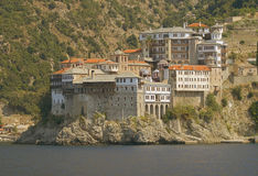 Athos's monastery. At summer Stock Image