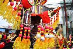 Ati-Atihan costume royalty free stock photography