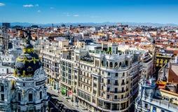 Atico zakazuje terraza miasta widok od above Obraz Royalty Free