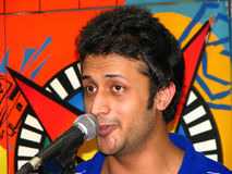 Atif Aslam 2. A portrait of the famous Pakistani singer who is currently very famous in the Indian film Industry (Bollywood) - Atif Aslam in a performance Royalty Free Stock Image