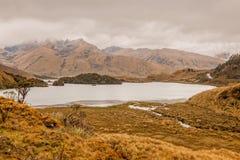 Atillo盐水湖,厄瓜多尔风景看法  库存图片