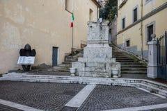 Atina,瓦尔二科米诺岛, Ciociaria,意大利 免版税图库摄影