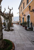 Atina Valle di Comino, Ciociaria, Italien arkivbild
