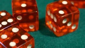 Atirador dos dados do casino vídeos de arquivo