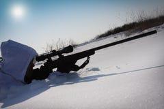 Atirador furtivo do inverno Fotografia de Stock