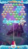 Atirador móvel da bolha da janela do jogo do GUI do mundo doce Imagens de Stock