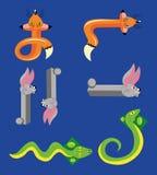Atiradores que divertem animais. ilustração do vetor