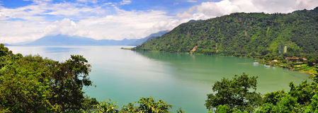 atitlan危地马拉湖 图库摄影