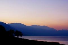 atitlan早期的湖早晨 图库摄影