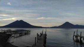 atitlan λίμνη στοκ φωτογραφία
