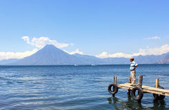 atitlan λίμνη της Γουατεμάλα Στοκ φωτογραφίες με δικαίωμα ελεύθερης χρήσης