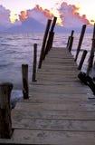atitlan восход солнца озера Гватемалы Стоковое Фото