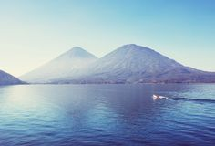 atitlan озеро Стоковая Фотография