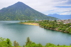 atitlan湖 免版税库存图片