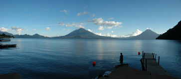 Atitlan desde el Muelle Royalty Free Stock Photo