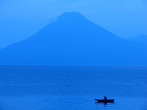 Atitlan Lake. A Fisherman at Atitlan Lake in Guatemla Stock Images