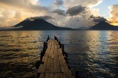 Atitlan sjö Royaltyfri Fotografi