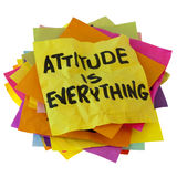 A atitude é tudo imagem de stock
