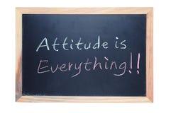 A atitude é tudo Imagens de Stock Royalty Free