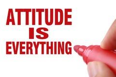 A atitude é tudo Fotografia de Stock