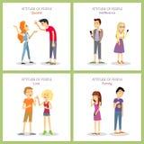 atitude discussão indifference Amor partir-se ilustração royalty free