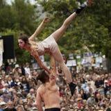 Atitude graciosa de um dançarino Foto de Stock Royalty Free