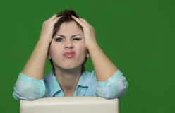 Atitude humana negativa dos sentimentos da expressão facial das emoções foto de stock royalty free