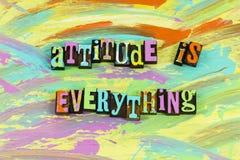 A atitude positiva é tudo fotografia de stock royalty free