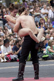 Atitude sensual de um par dançarinos Imagem de Stock Royalty Free