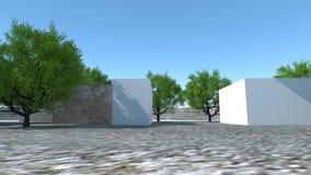 Atividade da construção do interior moderno ilustração stock