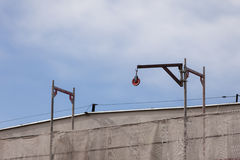 Atividade de edifício Canteiro de obras com guindaste Fotografia de Stock Royalty Free