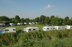 Atividade de lazer de acampamento da vida Fotografia de Stock Royalty Free
