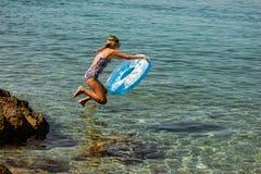 Atividade de Leasure no mar de adriático fotografia de stock