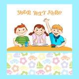 Atividade do ` s das crianças Os meninos e as meninas contrataram seu passatempo Imagem de Stock