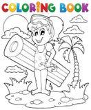 Atividade 2 do verão do livro para colorir Fotografia de Stock