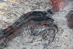 Atividade do vulcão, Havaí, EUA Imagens de Stock