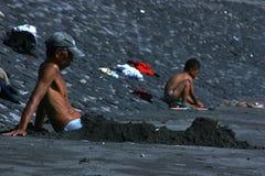 Atividade dos povos na praia de Sanur Imagens de Stock Royalty Free