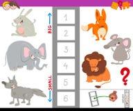Atividade educacional com os grandes e animais pequenos Fotografia de Stock