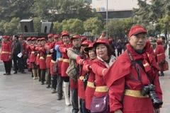 Atividade famosa do flash da propaganda dos entusiastas da fotografia aérea do arroz dos petiscos de Mianyang Foto de Stock Royalty Free