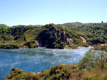 Atividade Geothermal, Waimangu, Rotorua, Nova Zelândia Fotos de Stock