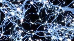 atividade 4K neuronal ilustração royalty free