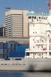 Atividade marítima na porta de Genoa, Italy Imagem de Stock Royalty Free
