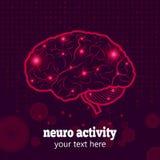 Atividade neural de cérebro humano Imagens de Stock Royalty Free