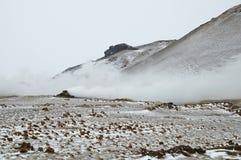 Atividade vulcânica, vatn do ½ de MÃ Fotos de Stock Royalty Free