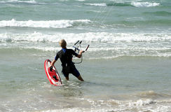 Atividades da praia: papagaio Foto de Stock Royalty Free